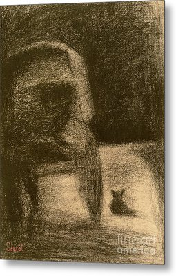 Carriage And Dog Metal Print by Georges Pierre Seurat