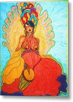 Carribean Princess Metal Print by Rae Chichilnitsky