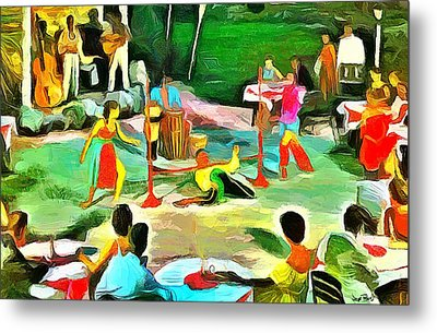 Carribean Scenes - Calypso And Limbo Metal Print