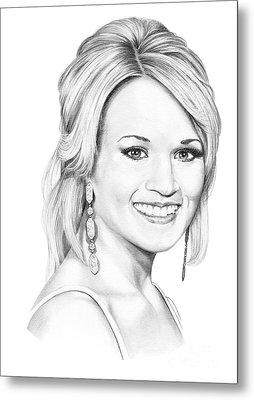 Carrie Underwood Metal Print by Murphy Elliott