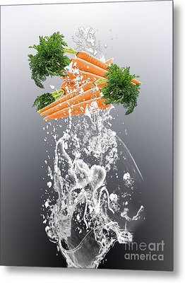 Carrot Splash Metal Print