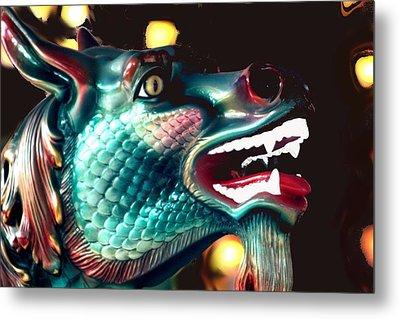 Carrousel Dragon Horse Metal Print by Diane Merkle