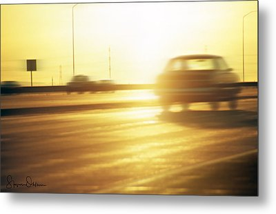 Cars On Freeway 3 - Signed Limited Edition Metal Print by Steve Ohlsen