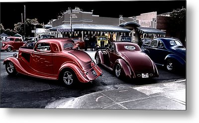 Cars On The Strip Metal Print