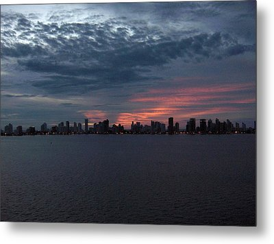 Cartagena Colombia At Sunset Metal Print by Janet  Hall
