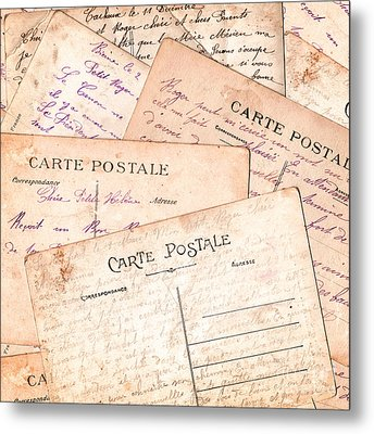 Cartes Postales Metal Print