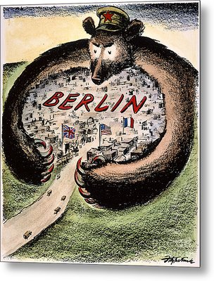 Cartoon: Cold War Berlin Metal Print by Granger