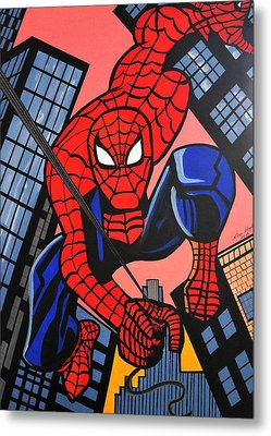 Cartoon Spiderman Metal Print