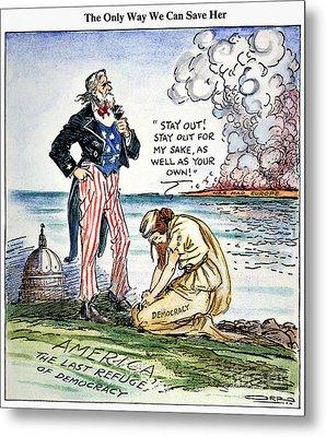 Cartoon: U.s. Intervention Metal Print by Granger