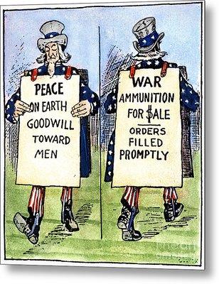 Cartoon: U.s. Neutrality Metal Print by Granger