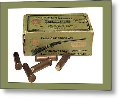 Cartridges For Rifle Metal Print by Susan Leggett