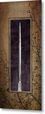 Carving Set Sharpener Triptych 3 Metal Print