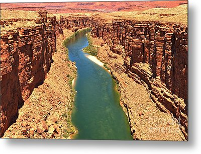 Carving The Canyon Metal Print by Adam Jewell