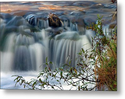 Metal Print featuring the photograph Cascade At Sunrise by Timothy McIntyre