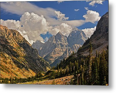 Cascade Canyon With Storm Clearing Metal Print by Raymond Salani III