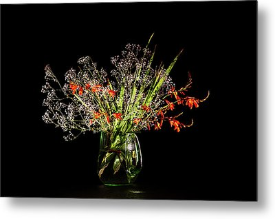 Cascade Of White And Orange. Metal Print