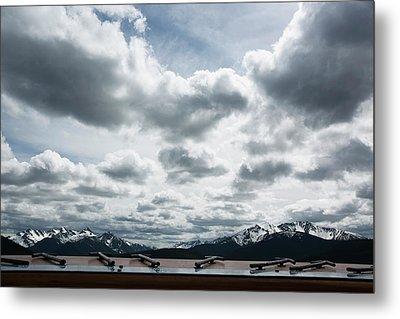 Metal Print featuring the photograph Cascade Outlook Manning Provincial Park by Elvira Butler