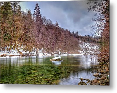 Cascade River Rocks Metal Print by Spencer McDonald