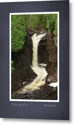 Metal Print featuring the photograph Cascade River Scrapbook Page by Heidi Hermes