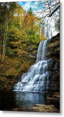 Cascades Lower Falls Metal Print