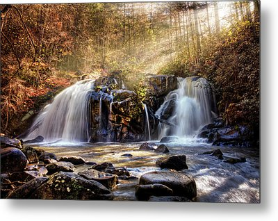 Metal Print featuring the photograph Cascades Of Light by Debra and Dave Vanderlaan