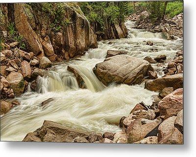 Cascading Colorado Rocky Mountain Stream Metal Print by James BO  Insogna