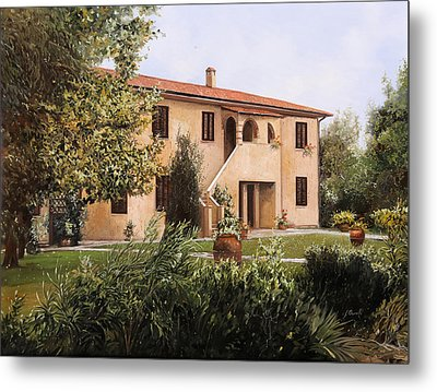 Cascina Toscana Metal Print by Guido Borelli