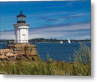 Casco Bay Afternoon Metal Print by Laurie Breton