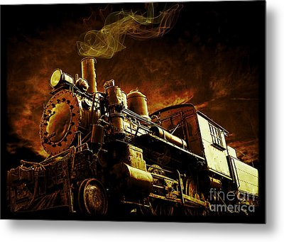 Casey Jones And The Cannonball Express Metal Print by Edward Fielding