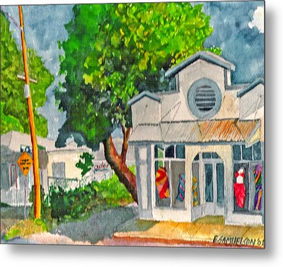 Metal Print featuring the painting Caseys Place by Eric Samuelson