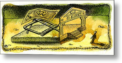 Cash Catch Metal Print by Leon Zernitsky