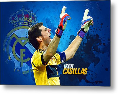 Casillas Metal Print by Semih Yurdabak
