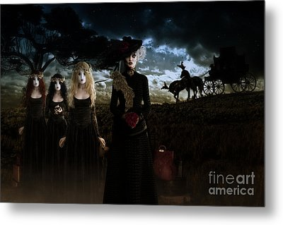 Metal Print featuring the digital art Casquette Brides Arrival by Shanina Conway