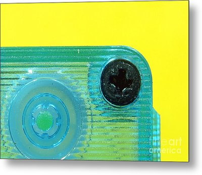 Cassette Tape Closeup Metal Print by Yali Shi