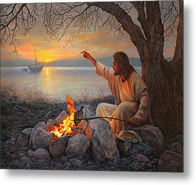 Cast Your Nets On The Right Side Metal Print by Greg Olsen