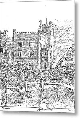 Castello Di Miramare Metal Print by Anthony Meton
