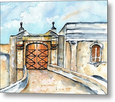 Castillo De San Cristobal Entry Gate Metal Print by Carlin Blahnik