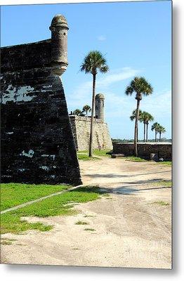 Metal Print featuring the photograph Castillo De San Marcos St Augustine Florida by Bill Holkham