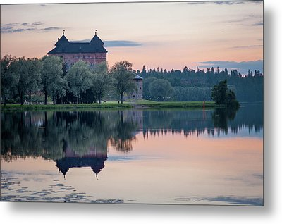 Castle After The Sunset Metal Print