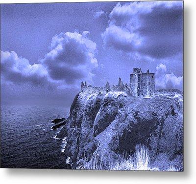 Castle Blue Metal Print