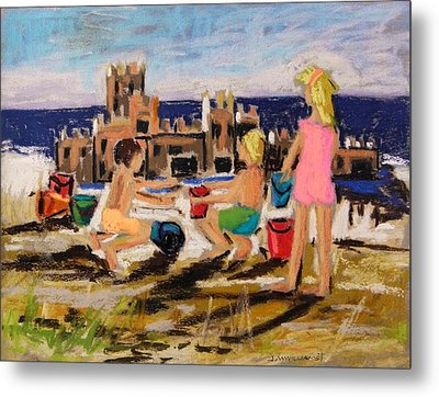 Metal Print featuring the painting Castle Builders by John Williams