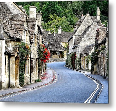 Castle Combe Metal Print by Diane Height