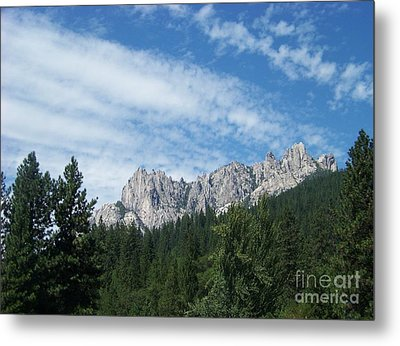 Castle Crags Metal Print by Charles Robinson