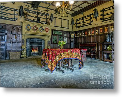 Metal Print featuring the photograph Castle Dining Room by Ian Mitchell
