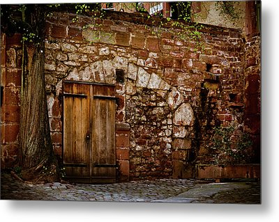 Castle Doors Metal Print