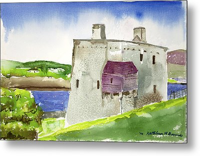 Castle From The Hill Metal Print