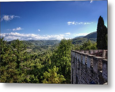 Castle In Chianti, Italy Metal Print