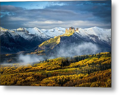 Metal Print featuring the photograph Castle In The Clouds by Phyllis Peterson