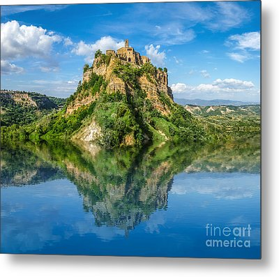 Castle In The Lake Metal Print by JR Photography