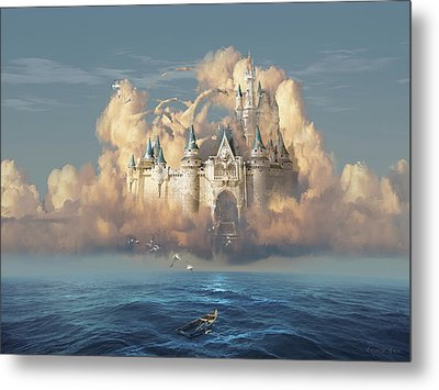 Castle In The Sky Metal Print by George Grie